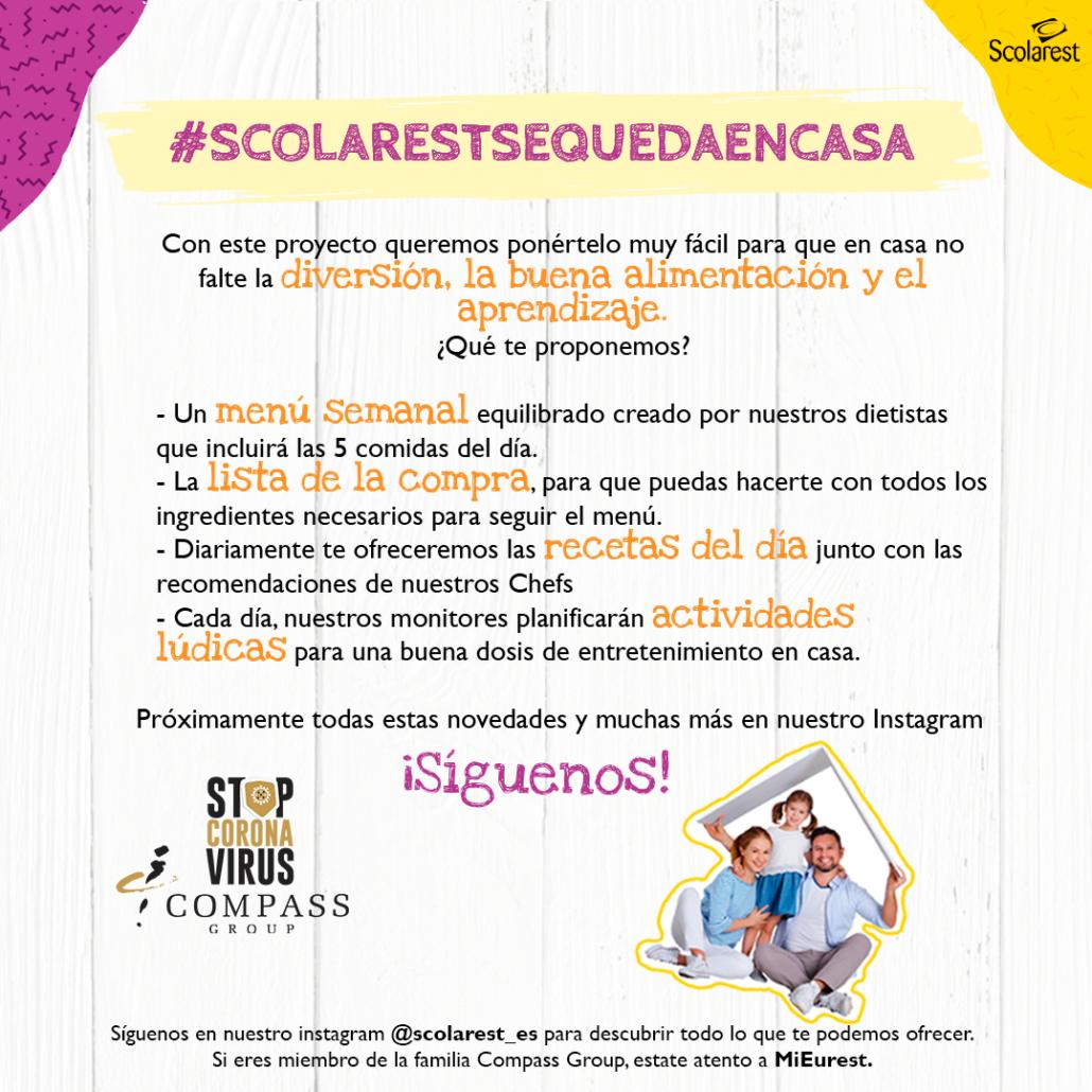 #Scolarestsequedaencasa Actividades y Menú para tu familia
