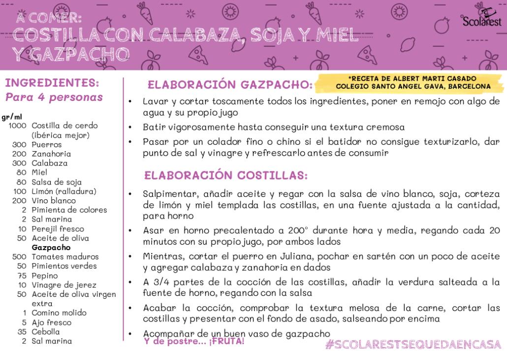 Menú Scolarest 7 mayo 2020